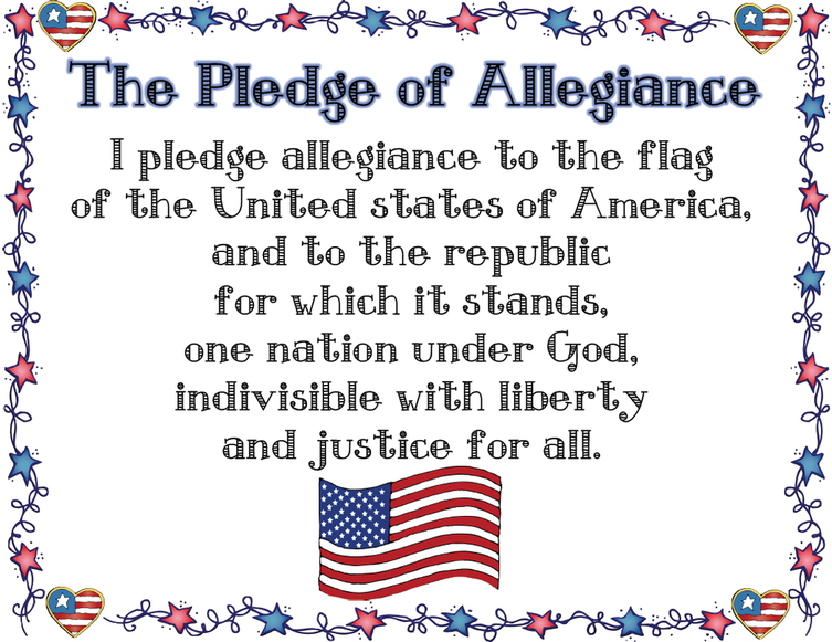 picture regarding Pledge of Allegiance Printable known as Pledge of Allegiance - Welcome in direction of My Clroom!